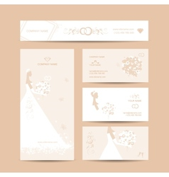 Business cards design weddign concept vector image vector image