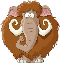 Cartoon mammoth vector