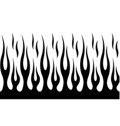 Classic tribal hotrod muscle car flame pattern vector