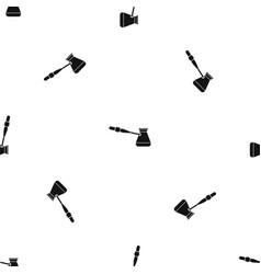 Coffee cezve pattern seamless black vector