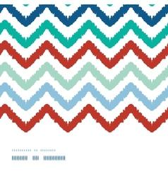 Colorful ikat chevron frame horizontal seamless vector image vector image
