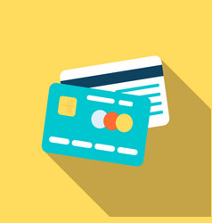 Credit cards icon in flat style vector