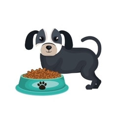 Dog food product isolated icon vector