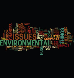 Environmental issues text background word cloud vector