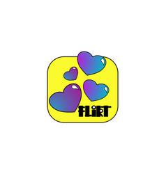flirt - logotype or icon vector image