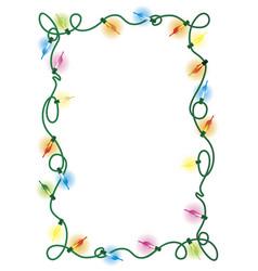 frame garland vector image