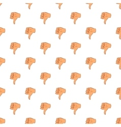 Gesture thumbs down pattern cartoon style vector