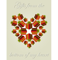 Gifts from my heart vector image vector image