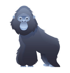 gorilla cute cartoon character vector image vector image