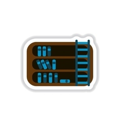 In paper sticker style library vector