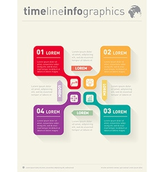 Infographic with icons web template for diagram vector