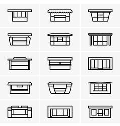 Kiosk icons vector