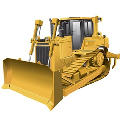Light brown dozer vector