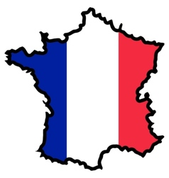 Map in colors of France vector image