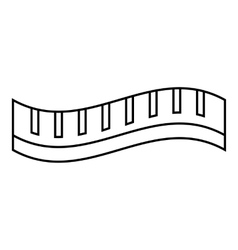 Measuring striped tape icon outline style vector