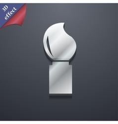 Paint brush icon symbol 3d style trendy modern vector