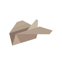 Paper plane start up symbol vector