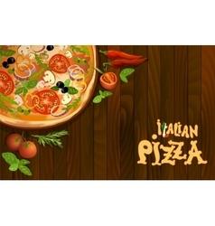 Pizza italian background vector