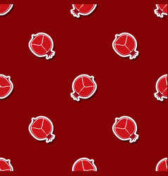Seamless pattern with pomergranate vector