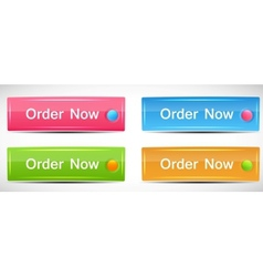 Shiny Rectangle Menu Buttons vector image