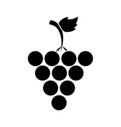 Silhouette fresh grape fruit vector