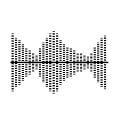 Sound waves isolated icon design vector
