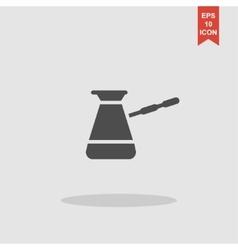 The turk icon Coffee symbol Flat vector image