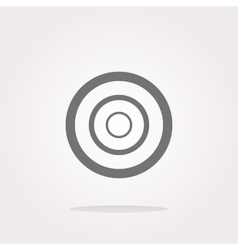 Target sign icon pointer symbol modern ui vector