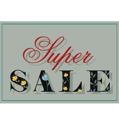 Inscription for retail super sale vector