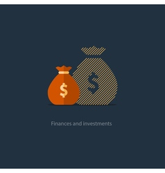 Bigger income expenses inflation compound interest vector