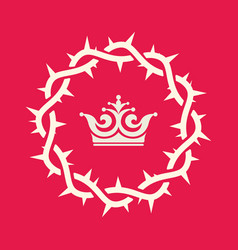 The crown of thorns of jesus christ vector