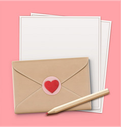 Love letter concept vector