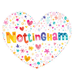 nottingham city in england vector image