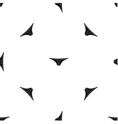thongs pattern seamless black vector image