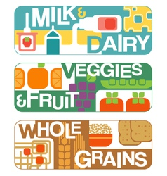 Food groups banners vector