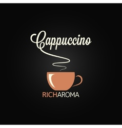 Cappuccino cup menu design background vector
