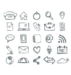 Real hand draw universal outline icons for web and vector