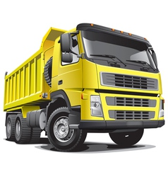 detailed image of large yellow truck isolated vector image