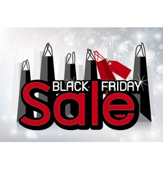 Black friday sale design with shopping bags vector