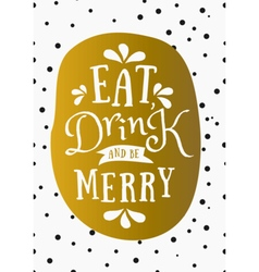 Typographic design gold foil christmas card vector