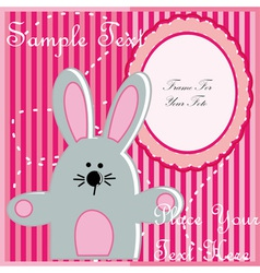 Baby postcard with rabbit vector