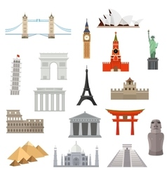 Architecture monument or landmark icon vector