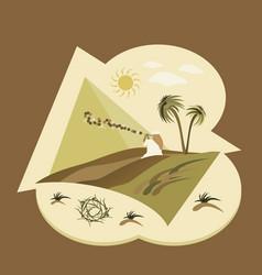 asia desert flat design vector image