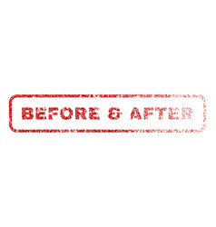 Before after rubber stamp vector