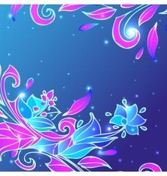 Blue flower background vector