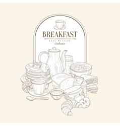 Breakfast banner vector