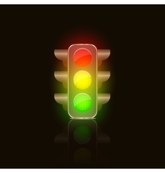 Bright Traffic Lamps vector image