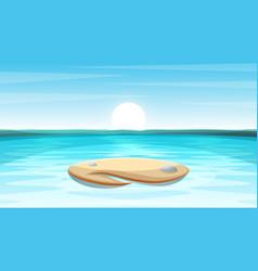 Cartoon island landscape vector