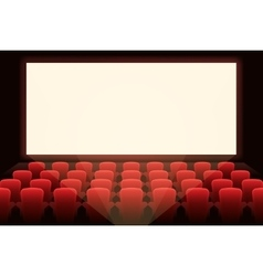 Cinema with white screen vector image