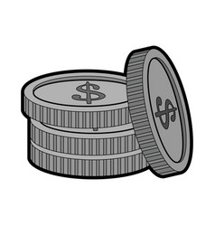 coin stack icon image vector image vector image